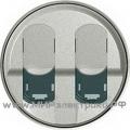 Celiane Лицевая панель для двойной розетки компьютерной 2хRJ45 (титан)
